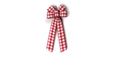 #40 Six Loop Gingham Check Bow/Pattern A