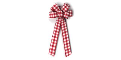 #40 Eight Loop Gingham Check Bow/Pattern A