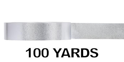 #09 Glitter Poly Satin Ribbon/SILVER/100 yds