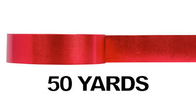 #09 Glitter Poly Satin Ribbon/RED/50 yds