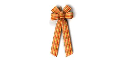 #40 Six Loop Harvest Plaid Bow/Pattern A