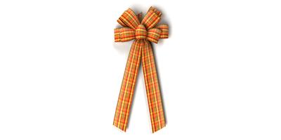 #40 Eight Loop Harvest Plaid Bow/Pattern A