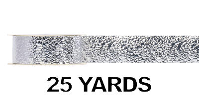 #09 Glimmering Ice Ribbon/SILVER/25 yds
