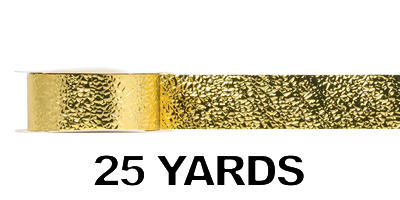 #09 Glimmering Ice Ribbon/GOLD/25 yds