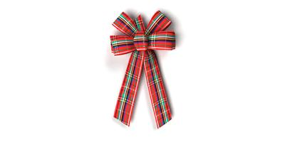 #09 Six Loop Plaid Bow/METALLIC PLAID