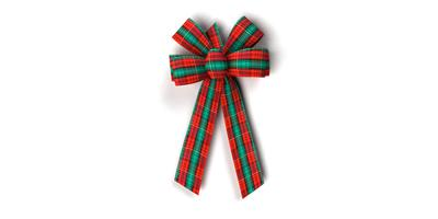 #09 Six Loop Plaid Bow/METALLIC TARTAN