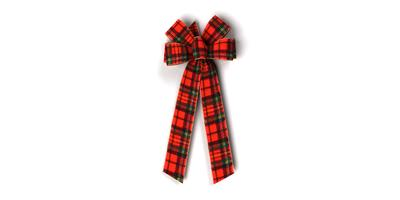 #40 Six Loop Wired Plush Plaid Bow