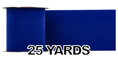 6 inch Wide Velvet Ribbon/ROYAL BLUE/25 yds
