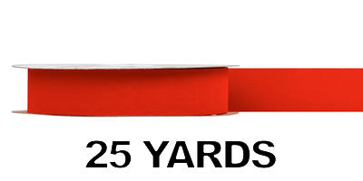 #09 Gold Back Ribbon/RED/25 yds