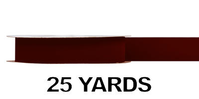 #09 Gold Back Ribbon/BURGUNDY/25 yds