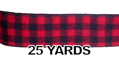 #40 Black & Red Fuzzy Check/25 yds
