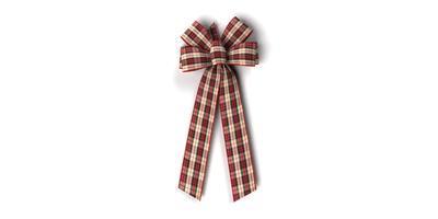 #40 Six Loop Wired Country Plaid Bow/Pattern A