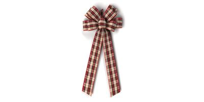 #40 Eight Loop Wired Country Plaid Bow/Pattern A