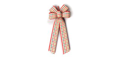 #40 Six Loop Wired Country Plaid Bow/Pattern B