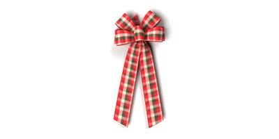 #40 Six Loop Wired Country Plaid Bow/Pattern C
