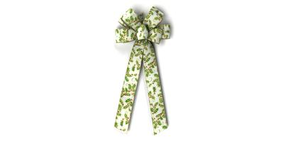 #40 Eight Loop Wired Holly & Berries Bow/PATTERN A
