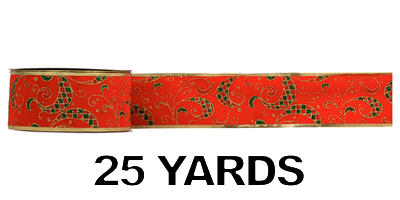 #40 Holiday Velvet Ribbon/RED/25 yards