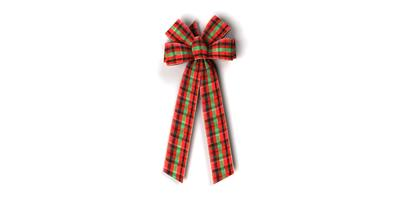 #40 Six Loop Wired Plaid Bow/PATTERN A