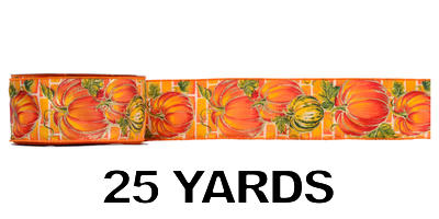 #40 Wired Pumpkins Ribbon/25 yards