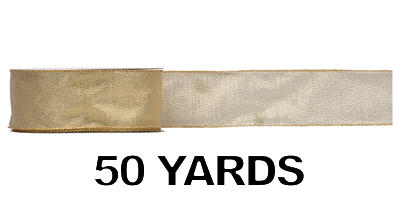 #40 Sheer Frost Ribbon/GOLD/50 yds