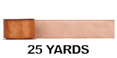 #40 Sheer Frost Ribbon/Copper/25 yds