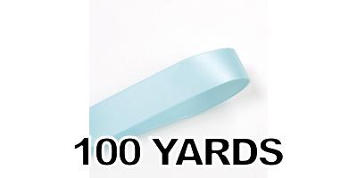 Double Face Satin Ribbon, Light Blue, 1-1/2 inch (38 mm)