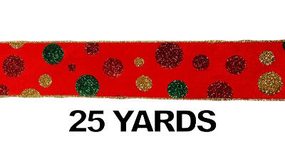 #40 Glitter Polka-Dots Ribbon/25 yards